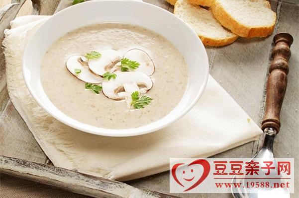孕妇营养早餐:奶油磨菇汤的做法