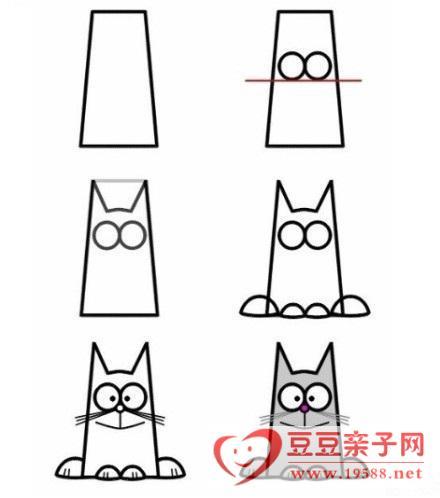 小狗简笔画:亲子活动跟宝宝一起画简笔画